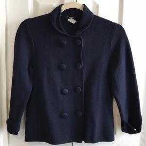 J. Crew navy Piazza sweater jacket xs cotton